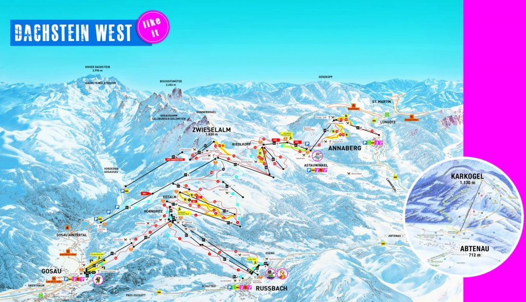 Kartenverbund Dachstein West